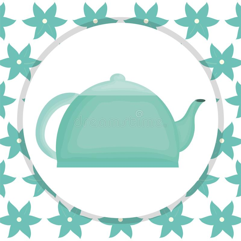Icono del elemento de la tetera de la cocina ilustración del vector