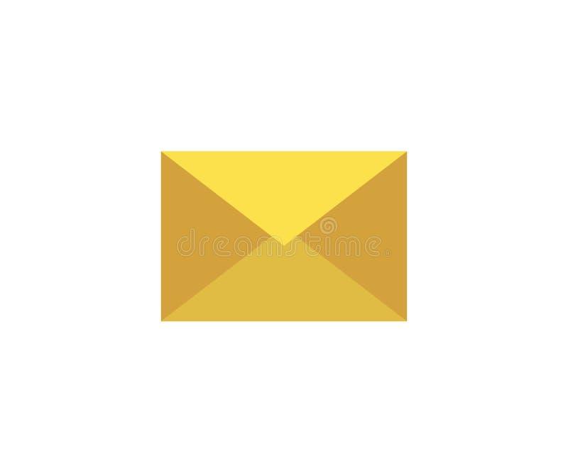 Icono del email Ejemplo del vector en estilo minimalista plano libre illustration