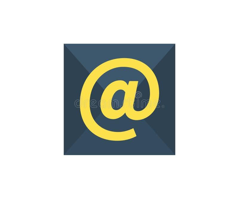 Icono del email Ejemplo del vector en estilo minimalista plano ilustración del vector