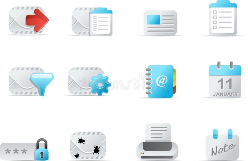 Icono del email - el emailo fijó 4 stock de ilustración