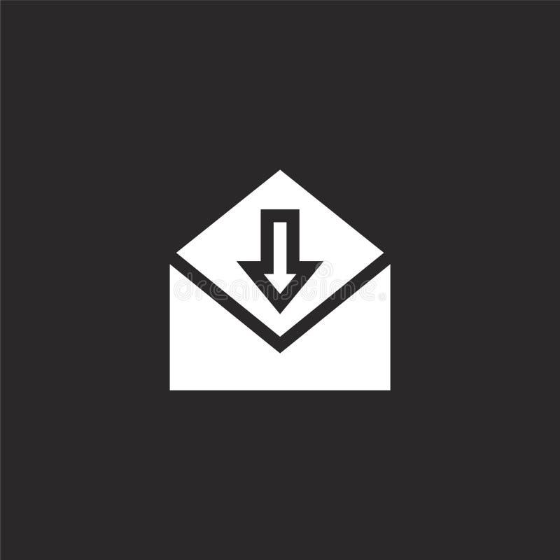 Icono del email Icono llenado del correo electrónico para el diseño y el móvil, desarrollo de la página web del app icono del cor ilustración del vector