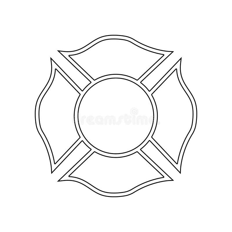 icono del emblema del bombero Elemento del bombero para el concepto y el icono m?viles de los apps de la web Esquema, l?nea fina  ilustración del vector