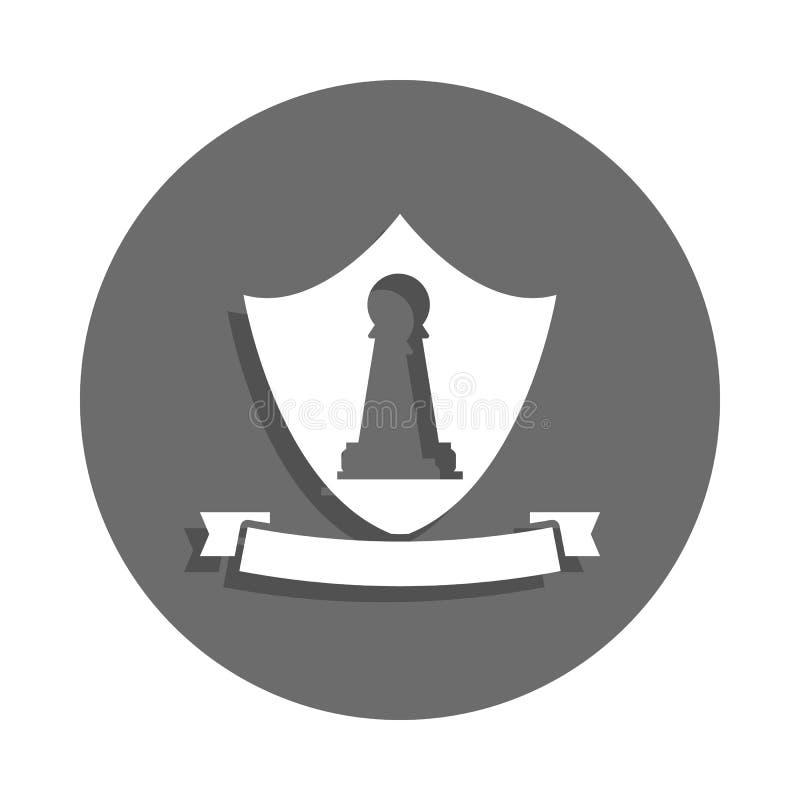 icono del emblema del empeño en estilo de la insignia Uno del icono de la colección del ajedrez se puede utilizar para UI, UX stock de ilustración
