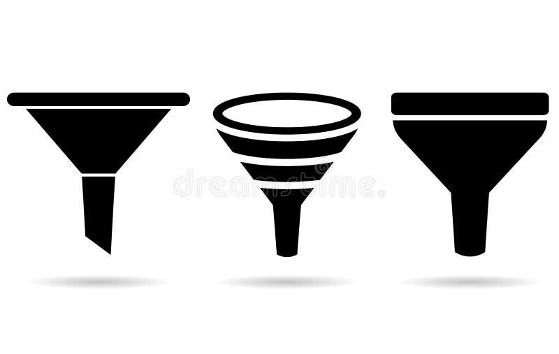 Icono del embudo libre illustration