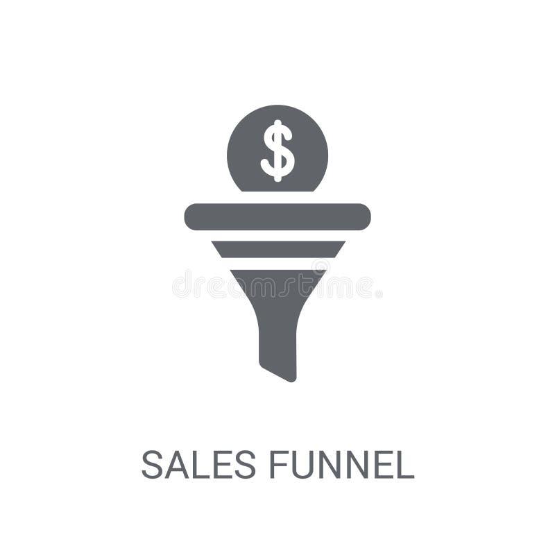 Icono del embudo de las ventas  ilustración del vector
