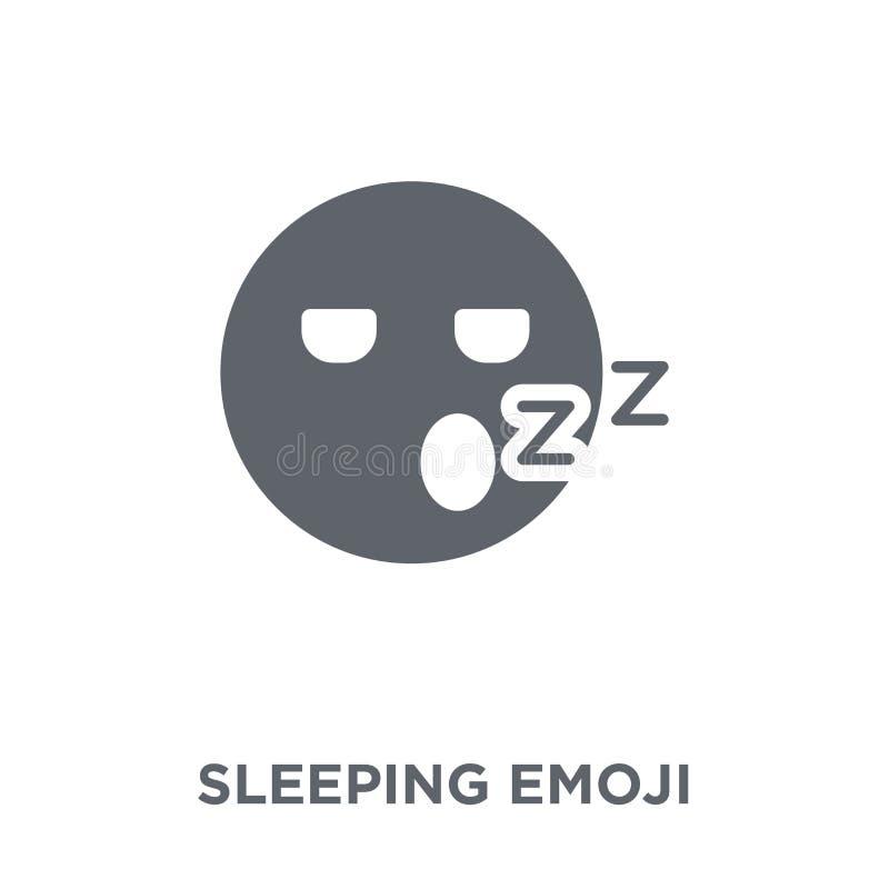Icono del emoji el dormir de la colección de Emoji stock de ilustración