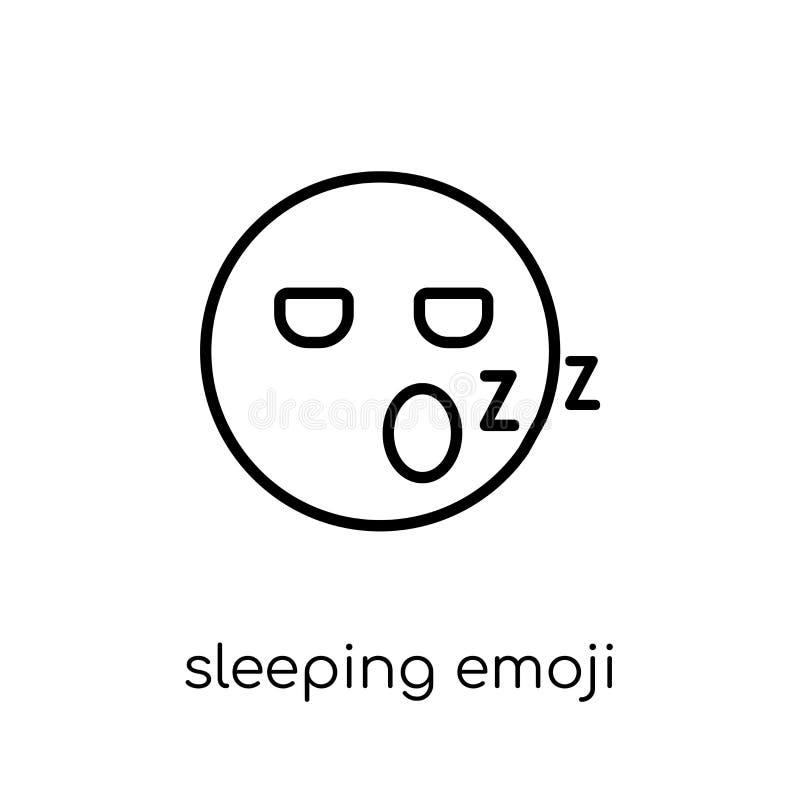 Icono del emoji el dormir de la colección de Emoji ilustración del vector