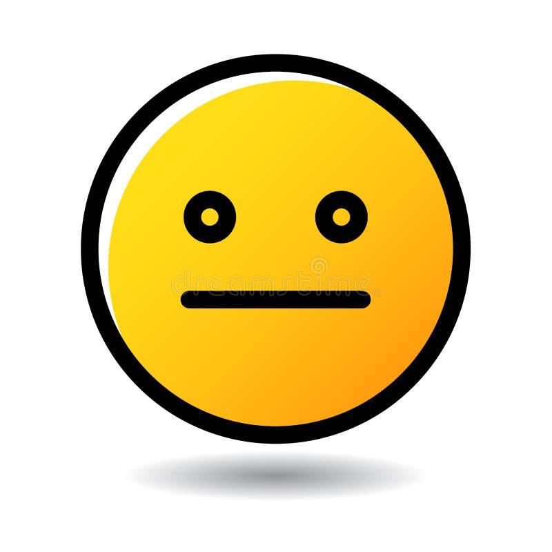 Icono del emoji del emoticon de Meh stock de ilustración