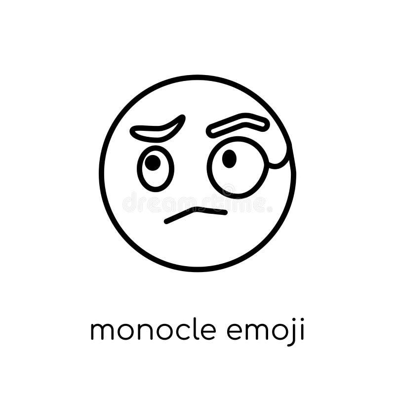Icono del emoji del monóculo de la colección de Emoji ilustración del vector