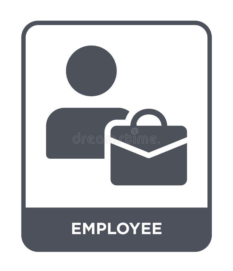 icono del empleado en estilo de moda del diseño Icono del empleado aislado en el fondo blanco plano simple y moderno del icono de ilustración del vector