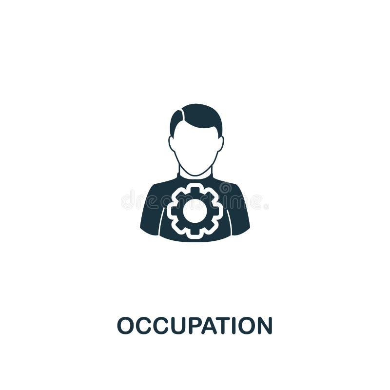 Icono del empleo Diseño superior del estilo de la colección del trabajo en equipo Ux y ui Icono perfecto para el diseño web, apps stock de ilustración