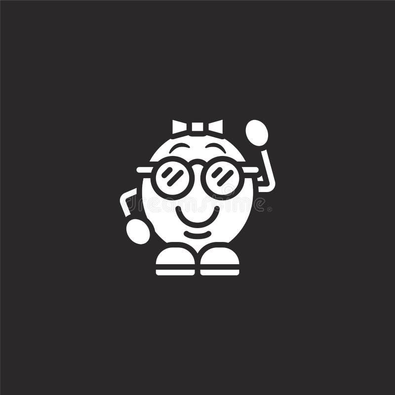 icono del empoll?n Icono llenado del empollón para el diseño y el móvil, desarrollo de la página web del app el icono del empolló stock de ilustración