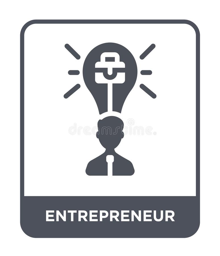 icono del empresario en estilo de moda del diseño icono del empresario aislado en el fondo blanco icono del vector del empresario stock de ilustración