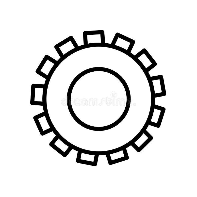 Icono del engranaje aislado en el fondo blanco imagenes de archivo
