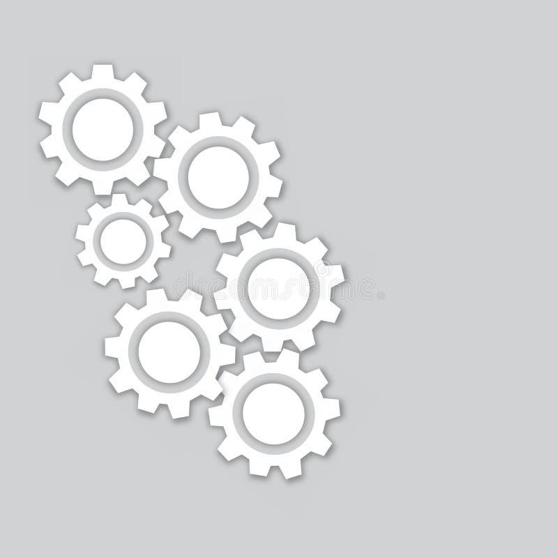 Icono del engranaje con el lugar para su texto libre illustration