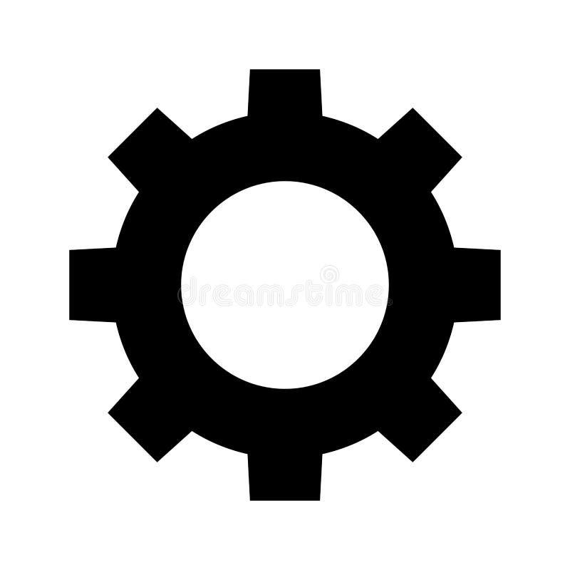 Icono del engranaje de la rueda del diente libre illustration