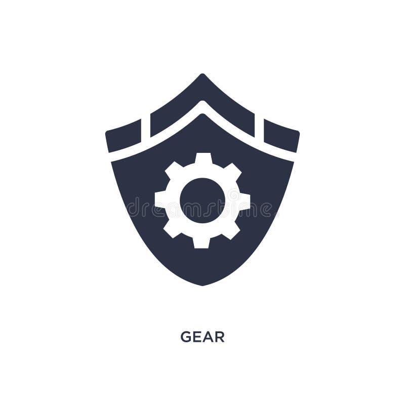 Icono del engranaje en el fondo blanco Ejemplo simple del elemento del concepto del gdpr stock de ilustración