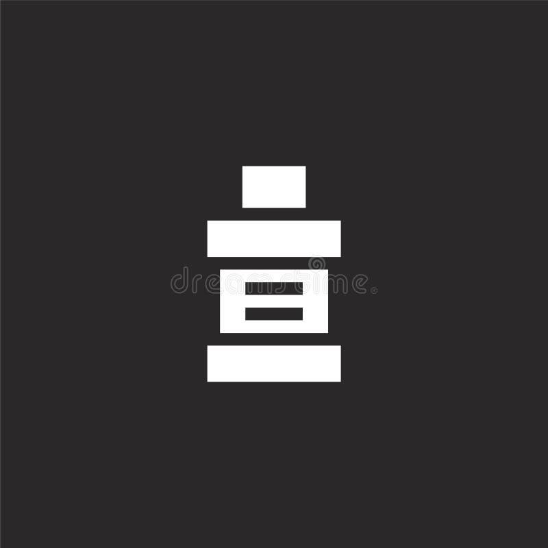 Icono del enjuague Icono llenado del enjuague para el diseño y el móvil, desarrollo de la página web del app icono del enjuague d libre illustration