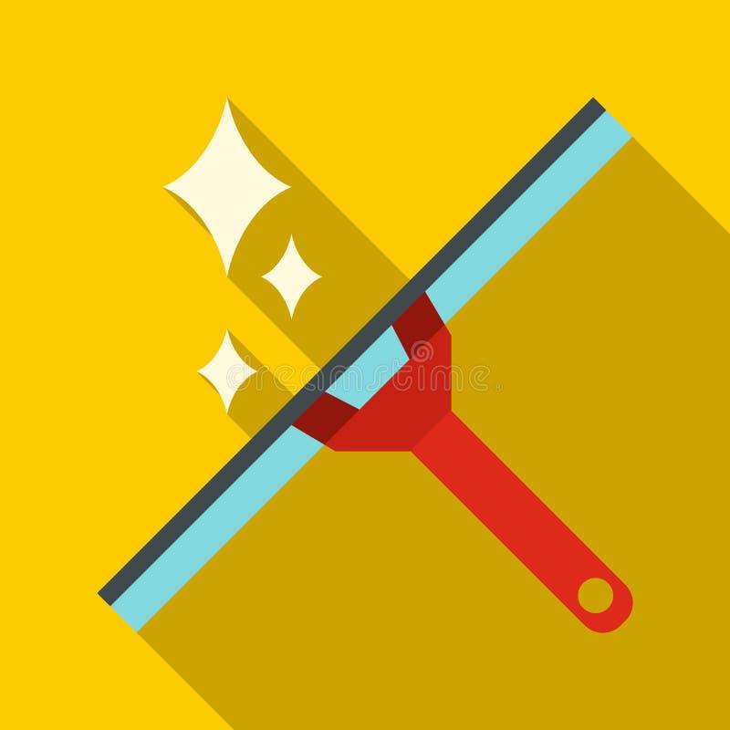 Icono del enjugador de la ventana, estilo plano ilustración del vector