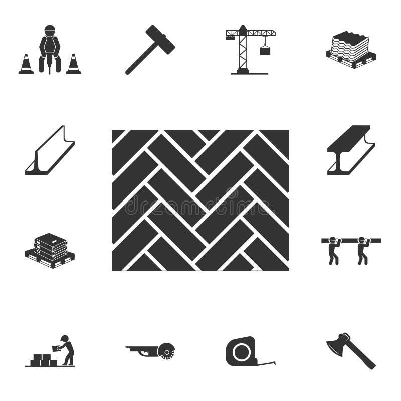 Icono del entarimado Sistema detallado de iconos de los materiales de construcción Diseño gráfico de la calidad superior Uno de l ilustración del vector