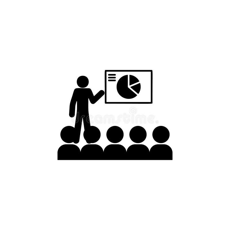 Icono del entrenamiento Elemento del icono de los colegas para los apps móviles del concepto y del web El icono detallado del ent libre illustration