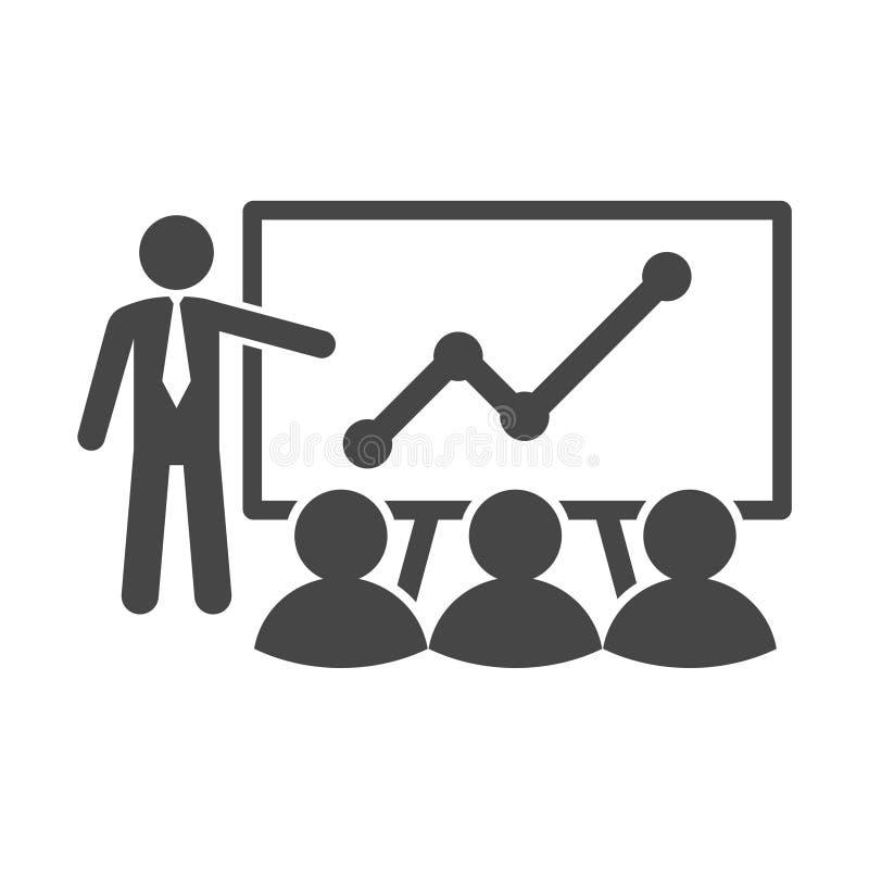Icono del entrenamiento en línea, logotipo simple del entrenamiento en línea stock de ilustración