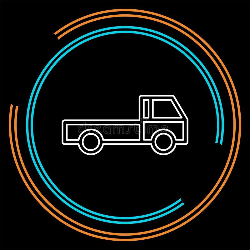 Icono del envío gratis, ejemplo del camión de reparto stock de ilustración