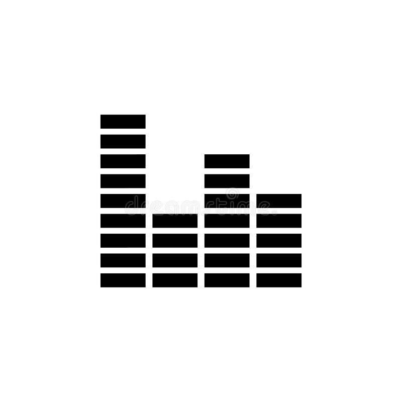 Icono del equalizador Elemento del icono del partido y de la diversión Icono superior del diseño gráfico de la calidad Muestras e stock de ilustración