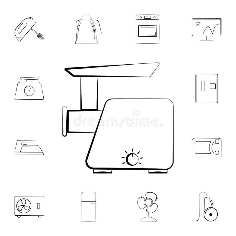 icono del equilibrio electrónico Sistema detallado de los aparatos electrodomésticos Diseño gráfico superior Uno de los iconos de stock de ilustración