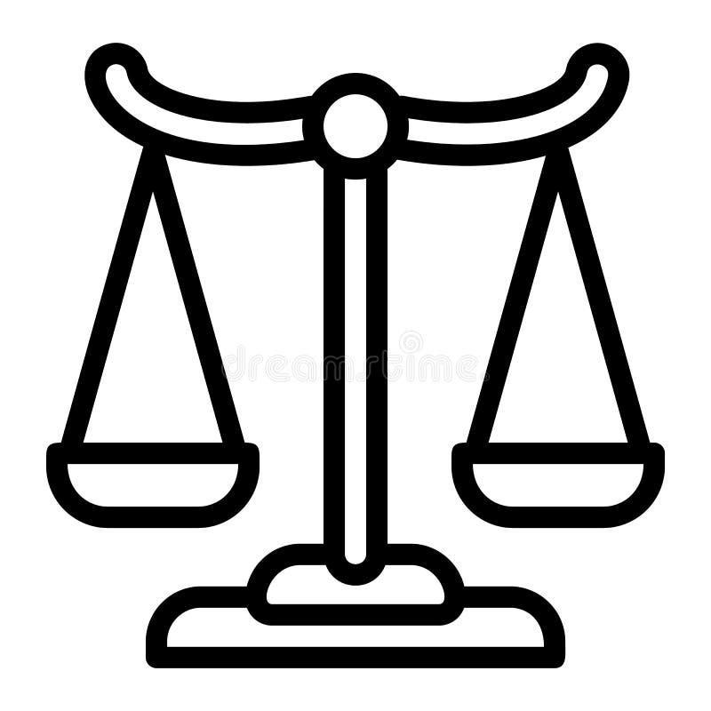 Icono del equilibrio financiero, estilo del esquema ilustración del vector