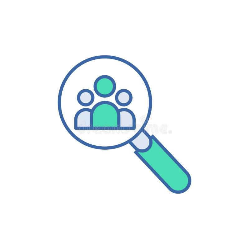 Icono del equipo del hallazgo s?mbolo del esquema y del diagrama del vector icono plano del equipo del hallazgo libre illustration