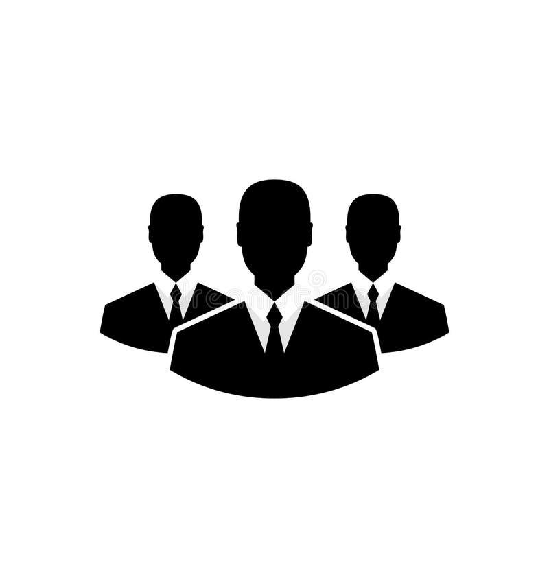 Icono del equipo, hombres de negocios de la comunidad ilustración del vector