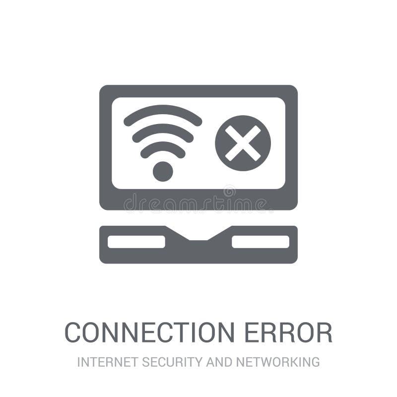 Icono del error de la conexión  stock de ilustración