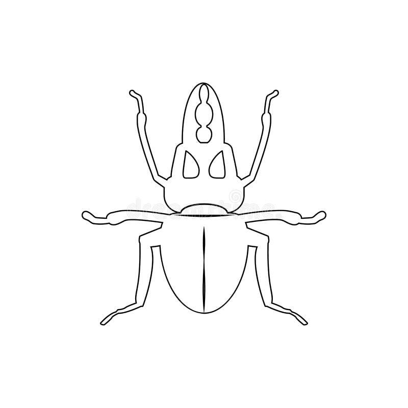 Icono del escarabajo de macho Elemento del insecto para el concepto y el icono móviles de los apps de la web Línea fina icono par stock de ilustración