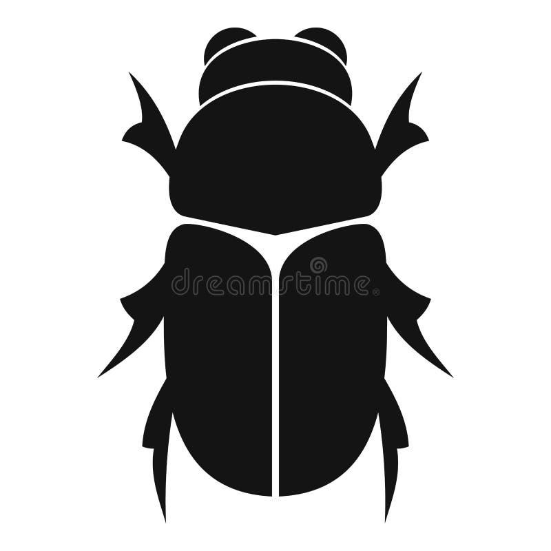 Icono del escarabajo del abejorro, estilo simple libre illustration