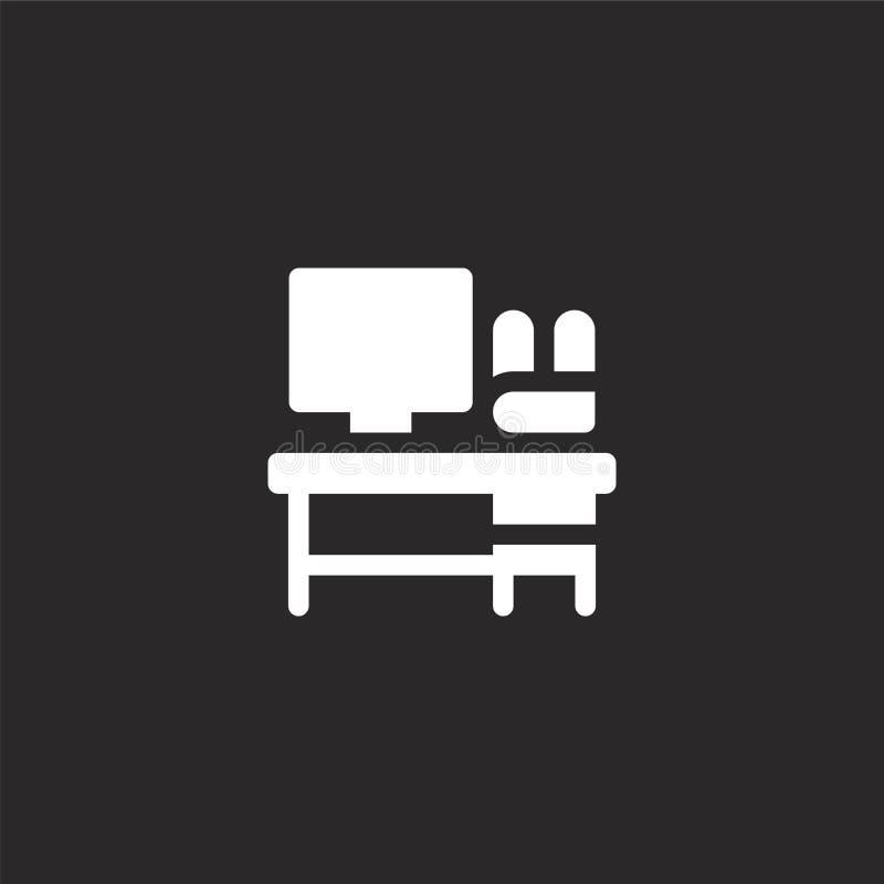 Icono del escritorio Icono llenado del escritorio para el diseño y el móvil, desarrollo de la página web del app icono del escrit libre illustration