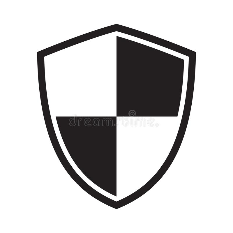 Icono del escudo Icono de la protecci?n muestra ilustración del vector