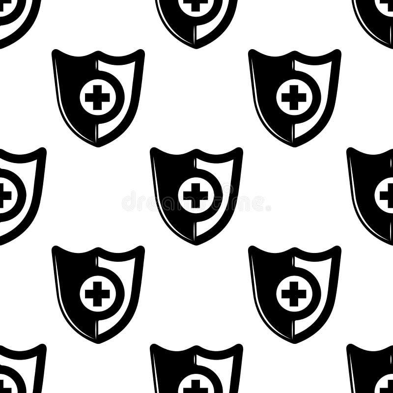 Icono del escudo Elemento de los iconos de la lucha para los apps móviles del concepto y del web El icono inconsútil del escudo d libre illustration