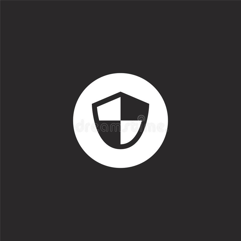 Icono del escudo Icono llenado del escudo para el diseño y el móvil, desarrollo de la página web del app icono del escudo de la c libre illustration