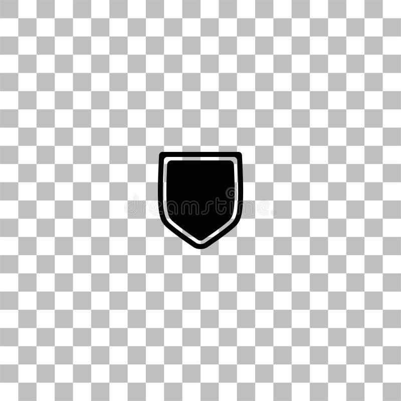 Icono del escudo plano ilustración del vector