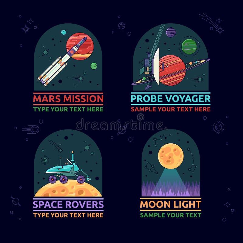 Icono del espacio stock de ilustración
