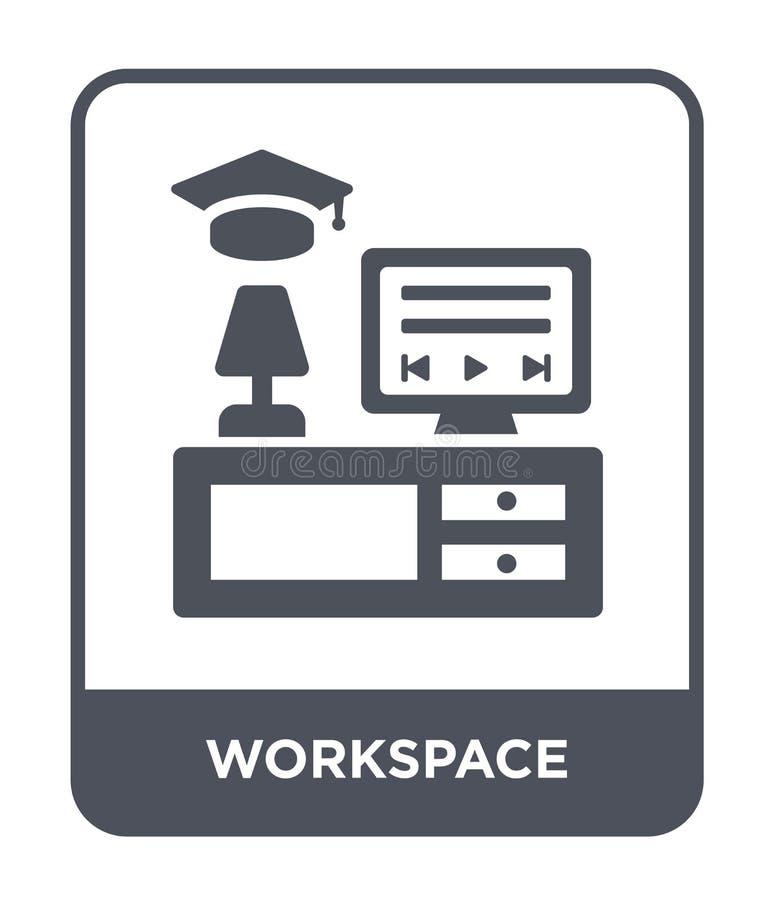 icono del espacio de trabajo en estilo de moda del diseño icono del espacio de trabajo aislado en el fondo blanco plano simple y  ilustración del vector