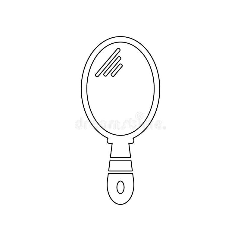 Icono del espejo de mano Elemento del peluquero para el concepto y el icono m?viles de los apps de la web Esquema, l?nea fina ico libre illustration