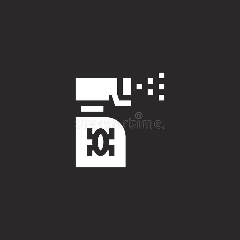 icono del espray de insecto Icono llenado del espray de insecto para el diseño y el móvil, desarrollo de la página web del app ic ilustración del vector