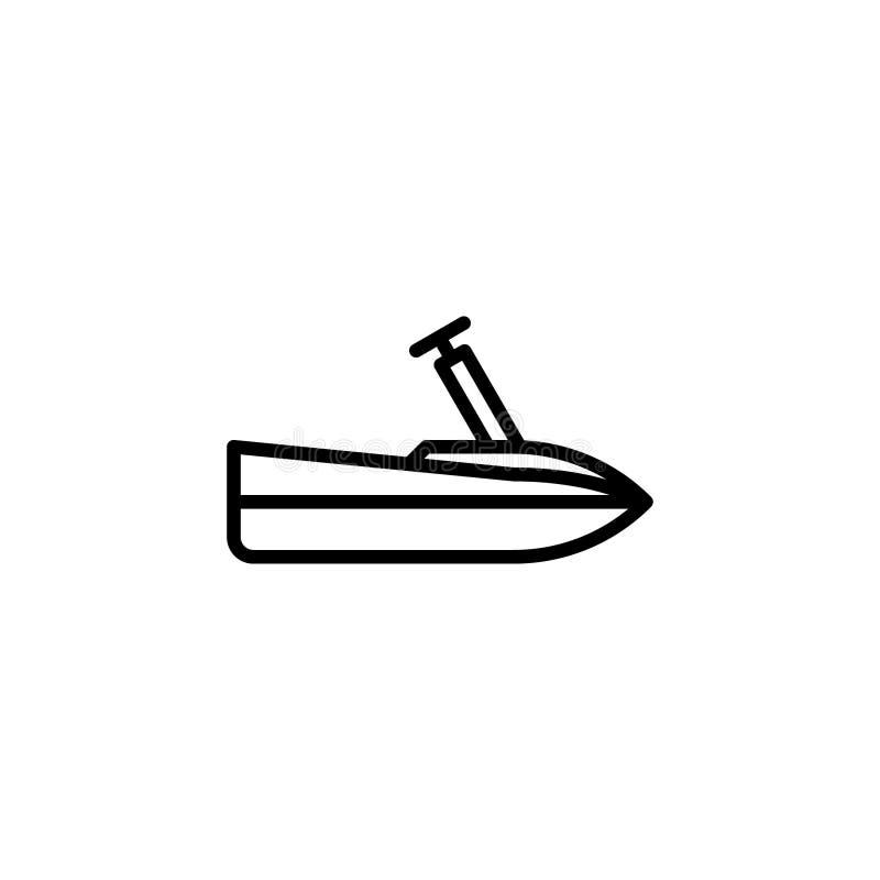 Icono del esquí del jet línea ejemplo del vector del icono del estilo libre illustration