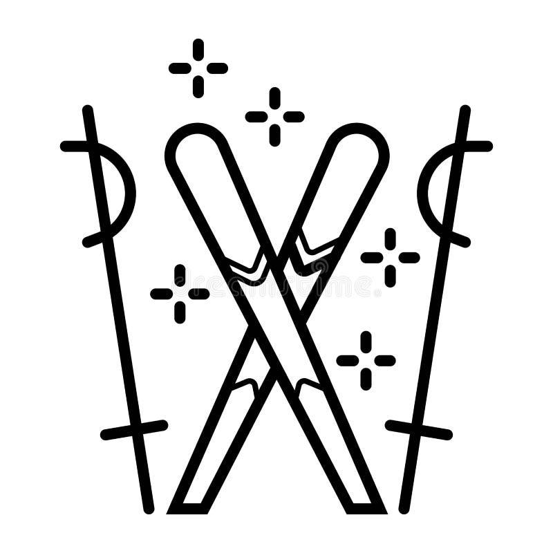 Icono del esquí Esquí ilustración del vector