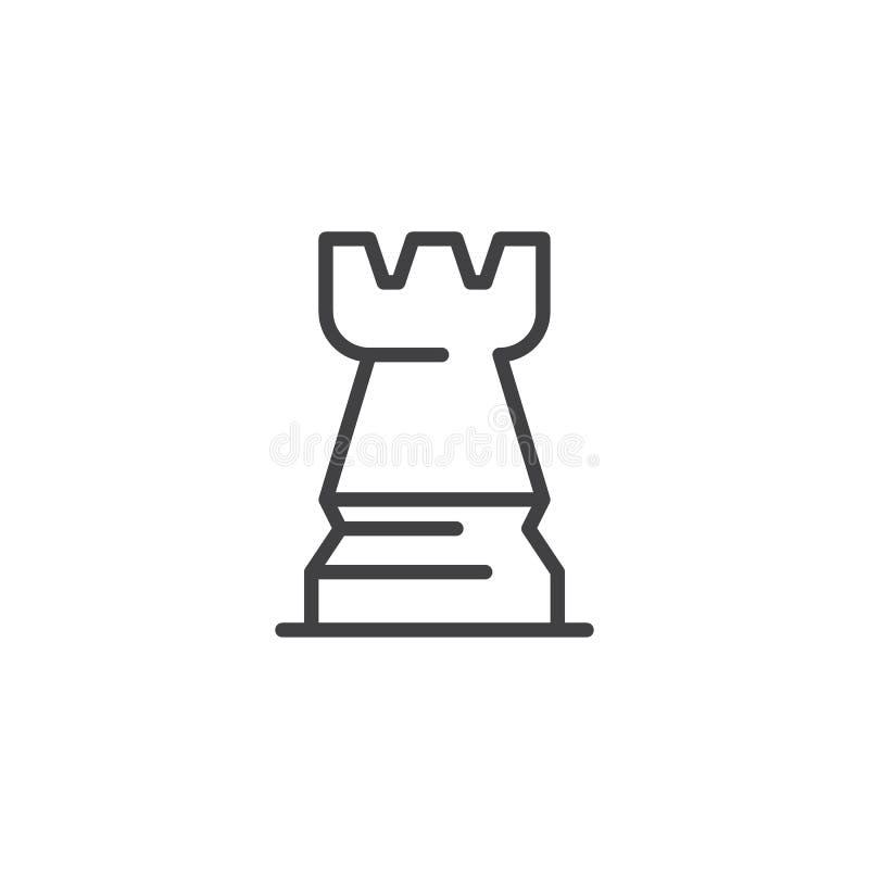 Icono del esquema del ajedrez del grajo libre illustration