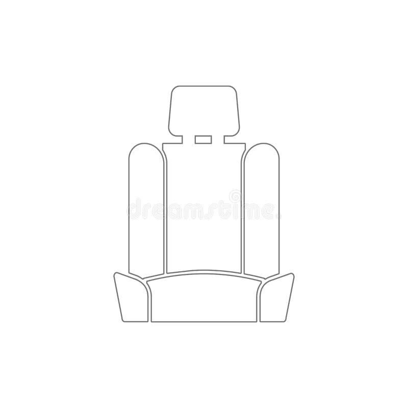 icono del esquema del asiento de carro Elementos del icono del ejemplo de la reparaci?n del coche Las muestras y los s?mbolos se  stock de ilustración