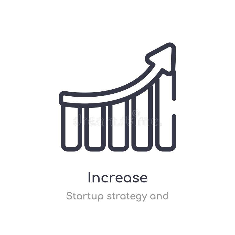 icono del esquema del aumento línea aislada ejemplo del vector de la estrategia y de la colección de lanzamiento icono fino edita libre illustration
