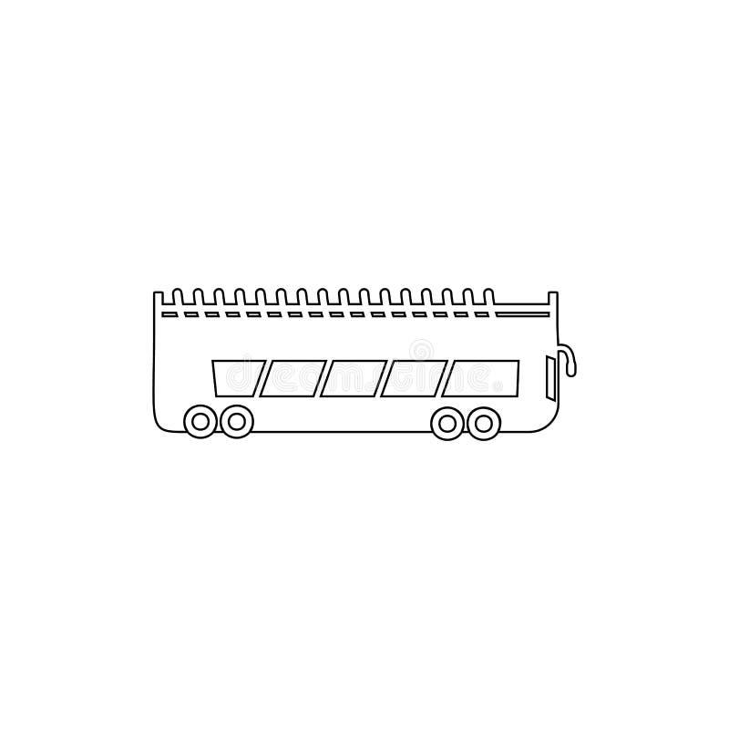 icono del esquema del autob?s del autob?s de dos pisos Elemento del tipo icono del coche Icono superior del dise?o gr?fico de la  ilustración del vector
